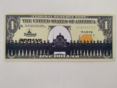 "Banksy, 'BANKSY DISMALAND US DOLLAR ""SMILEY FACED ARMY"", DISMAL DOLLAR, COMPLETE WITH COA , LTD EDT', 2015"