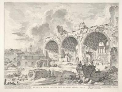 Giovanni Battista Piranesi, 'Veduta degli avanzi del Tempio della Pace', 1749-1750