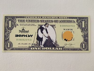 """Banksy, 'BANKSY DISMALAND US DOLLAR """"SWEEP IT UNDER THE CARPET MAID"""", DISMAL DOLLAR, COMPLETE WITH COA , LTD EDT', 2015"""