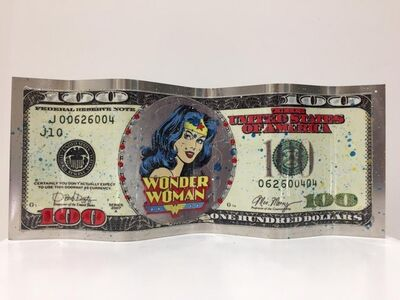 Alain Mimouni, 'Small Dollar Wonder Woman - White', 2019