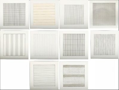 Agnes Martin, 'Paintings and Drawings, 1974-1990, a Portfolio of 10 Lithographs for the Stedelijk Museum', 1991