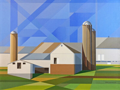 Edmund D. Lewandowski, 'Amish Farmscape #3', 1984