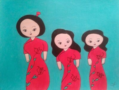 Jenny Chan, 'A Chinese Lady With Her Two Daughters', 2020