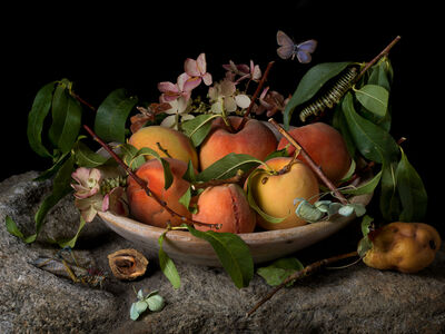 Paulette Tavormina, 'Peaches and Hydrangeas, After GG', 2015