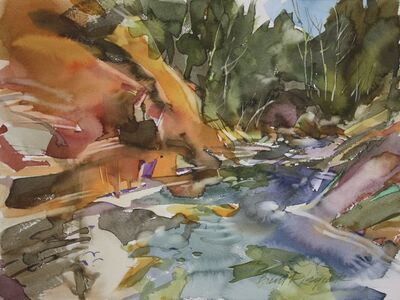 Brent Laycock, 'Upstream at Little Red Rock', 2016