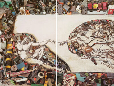 Vik Muniz, 'The Creation of Adam, After Michelangelo', 2011