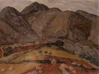 Felice Carena, 'Montagna di Anticoli', 1919