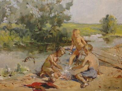 Vladimir Frolovich Stroev, 'At the river', 1959
