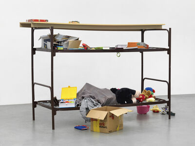 Thomas Rentmeister, 'Elbisbach double decker cot', 2018
