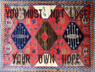 "Loredana Longo, 'Carpet#48 ""You Must Not Lose Your Own Hope""', 2020"