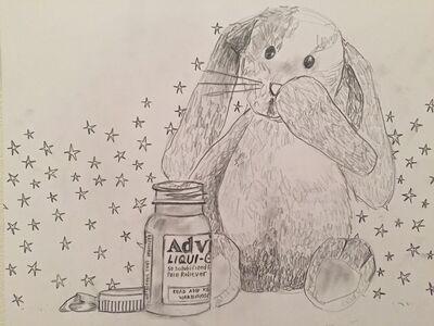 Amy Silver, 'advil  & a bunny', 2016