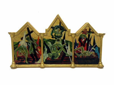 Masami Teraoka, 'Semana Santa/Frog Spread', 2001