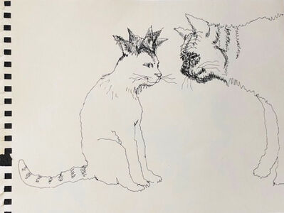 Mindy Alper, 'Untitled (2 cats)', n.d.