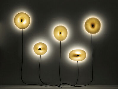 "gt2P, 'Wall-mounted lights from the series ""Less CPP N2 Porcelain vs. Lava Lights""', 2014"
