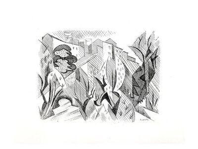 André Lhote, 'André Lhote - Cubist Landscape - Original Etching', 1946