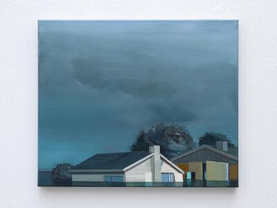 Ulf Puder, 'Bauernhäuser im Wasser bei Abendnebel', 2020