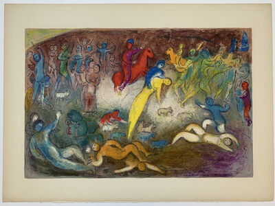 Marc Chagall, ' Chloé is carried off by the Methymnaens', 1961