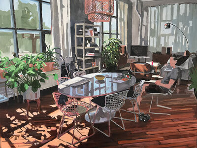 Aaron Hauck, 'Afternoon Living Room with Figures', 2018