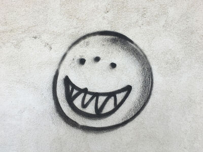 Richard Misrach, 'Sinister smiley face, Hinkley, California', 2017