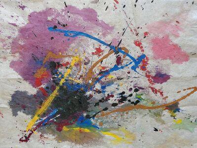Bill Alpert, 'Drip in Purple, Blue, Yellow, Black', 1971-1973