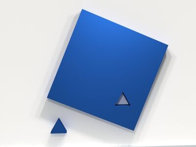 Lori Cozen-Geller, 'Piece (blue)', 2020