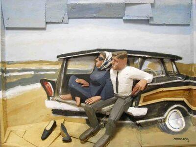 Miguel Herrera Zorrilla, 'Couple in the beach'