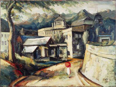 Kim Joo-kyoung, '북악산을 배경으로 한 풍경 (Landscape against Bugaksan Mountain) ', 1927