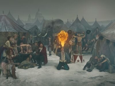 Julia Fullerton-Batten, '1812 Frost Fair, Fire-Eater', 2018