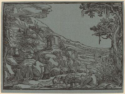 Hendrik Goltzius, 'Arcadian Landscape'