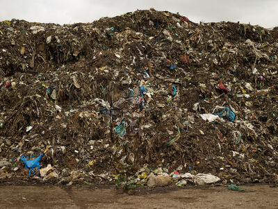 Liu Bolin, 'Hiding in the City - Municipal Waste, 2014', 2014