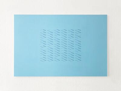 Isaac Chong Wai, '314 lines in blue', 2019