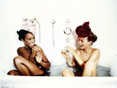 Ellen von Unwerth, 'Bathtub, Naomi Campbell and Kate Moss (for Vogue US)', 1996