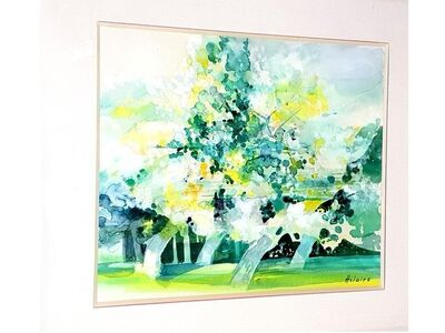 """Camille Hilaire, 'Original Watercolor """"Green Trees"""" by Camille Hilaire', 1970s"""
