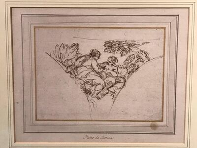 Pietro Berrettini, called Pietro da Cortona, 'Study for the Muses Calliope and Melpomene', 1659?
