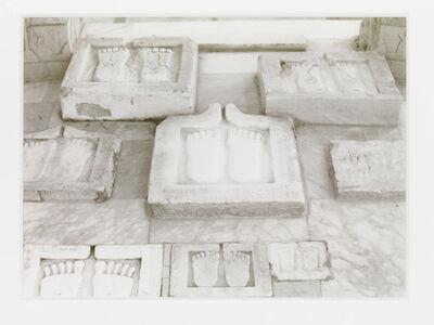 Wolfgang Laib, 'Fussabdrücke, Palitana, Gujarat, Nordwestindien', 1997