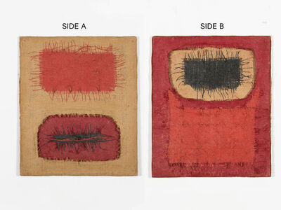 Hanna Eshel, 'Untitled (15) -- Collage Rouge Blanc (2 Cotê) (Double Sided)', 1971