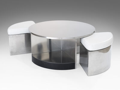 Maria Pergay, 'Two-seat tambour table', 1968