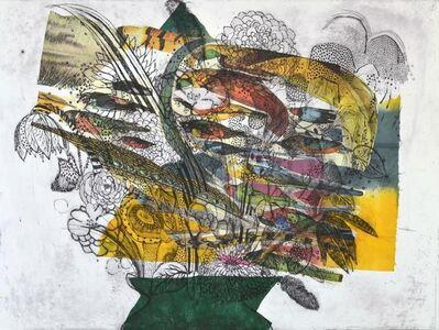 Fumiko Toda, 'Flowers in a Green Vase (Birds)', 2014
