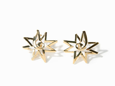 Paloma Picasso, 'Paloma Picasso for Tiffany & Co. 18 Carat Gold Sun Star Earrings', 2000-2009