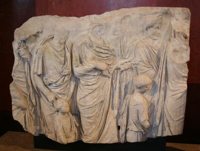 'Fragment of the Ara Pacis (Altar of Peace)', 13-9 B.C.