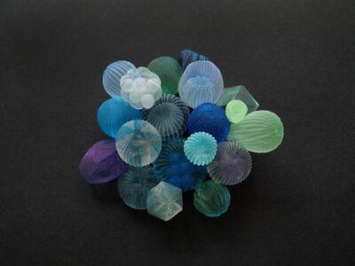 Mariko Kusumoto, ' Blue Bubble Brooch', 2020