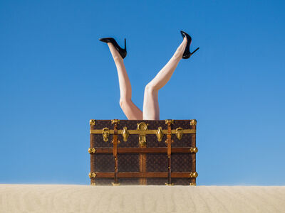 Tyler Shields, 'Louis Vuitton Trunk', 2016