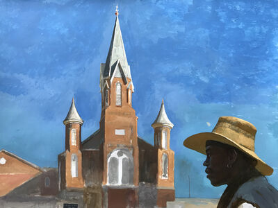 Bo Bartlett, 'A.M.E. (Homeless Artist Bobby Rose in the Afternoon at St.James A.M.E. Church on 6th)'