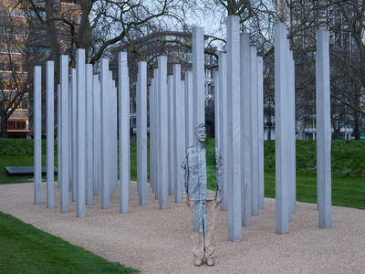 Liu Bolin, 'London No. 1 - July 7 Memorial ', 2014