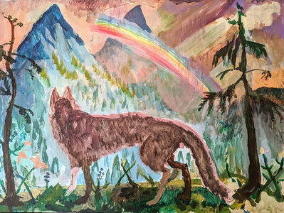Johnny DeFeo, 'Rainbow Wolf Study', 2019