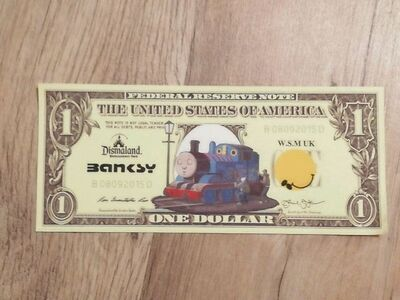 Banksy, 'BANKSY DISMALAND US DOLLAR THOMAS THE TANK ENGINE, DISMAL DOLLAR, COMPLETE WITH COA , LTD EDT', 2015