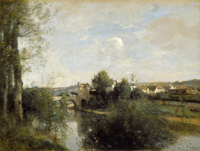 Jean-Baptiste-Camille Corot, 'Seine and Old Bridge at Limay', 1872