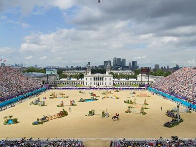 Simon Roberts, 'Equestrian Jumping Individual, Greenwich Park, London, 8 August 2012', 2012