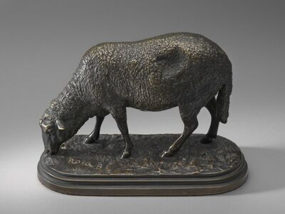 Rosa Bonheur, 'Ewe, or A Grazing Sheep', model second half 19th century