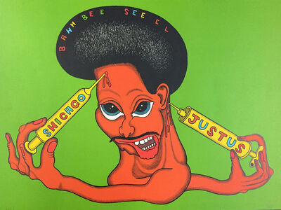 Peter Saul, 'Shicago Justus, from Conspiracy, The Artist as Witness', 1971